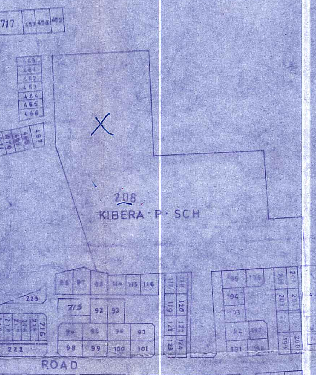 Extract from the cadastral map of Kibera, Nairobi