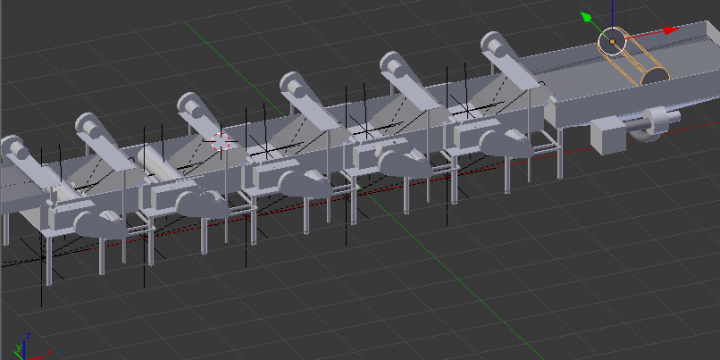 Factory Process 3D Modeling and Animation